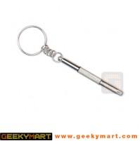 3 in 1 Portable Eyeglass Screwdriver Keychain